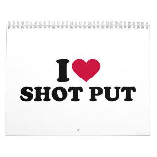I love shot put calendar