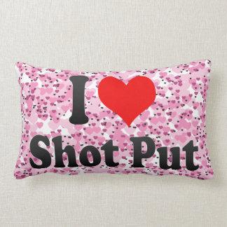 I love Shot Put Throw Pillows