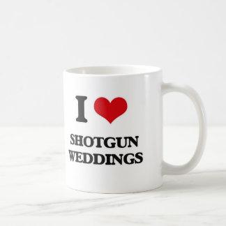 I Love Shotgun Weddings Coffee Mug