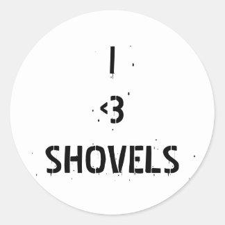 I love shovels sticker