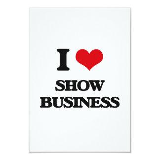 I Love Show Business 3.5x5 Paper Invitation Card