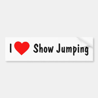 I Love Show Jumping Bumper Sticker