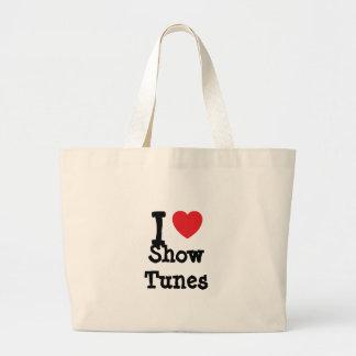 I love Show Tunes heart custom personalized Canvas Bag