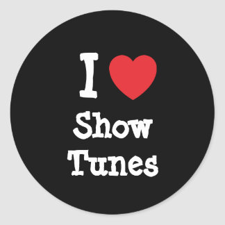 I love Show Tunes heart custom personalized Stickers