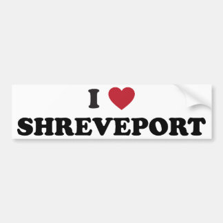 I Love Shreveport Louisiana Bumper Sticker