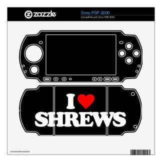I LOVE SHREWS DECAL FOR THE PSP 3000