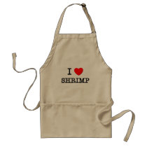 I Love SHRIMP Adult Apron