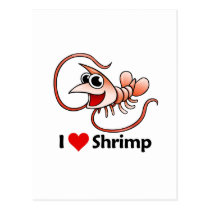 I Love Shrimp Postcard