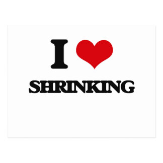 I Love Shrinking Postcard