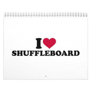 I love Shuffleboard Calendar