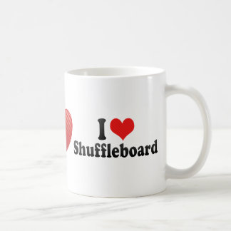 I Love Shuffleboard Coffee Mug