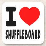 I Love Shuffleboard Drink Coaster