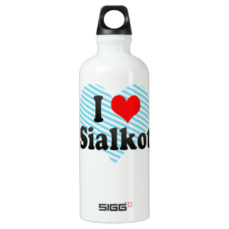 I Love Sialkot, Pakistan Aluminum Water Bottle