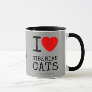 I Love Siberian Cats Coffee Cup