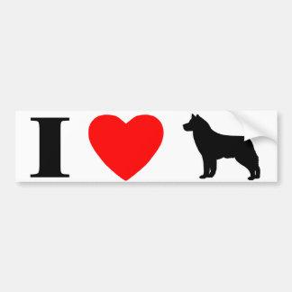 I Love Siberian Huskies Bumper Sticker