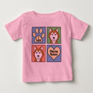 I Love Siberian Huskies T Shirt