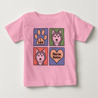I Love Siberian Huskies Tee Shirt