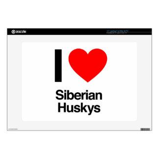 i love siberian huskys laptop decals
