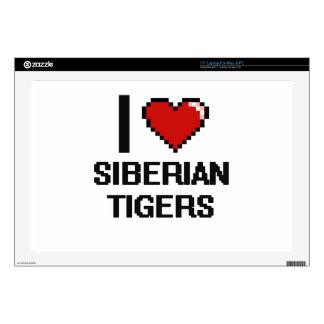 I love Siberian Tigers Digital Design Laptop Decal