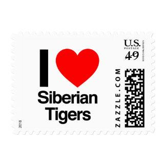 i love siberian tigers stamp