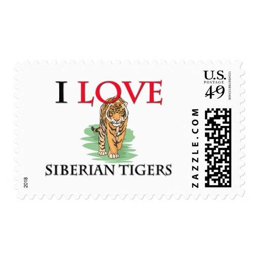 I Love Siberian Tigers Postage Stamp