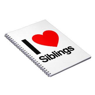 i love siblings spiral note book