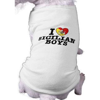 I Love Sicilian Boys Doggie Tee