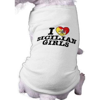 I Love Sicilian Girls Dog Shirt