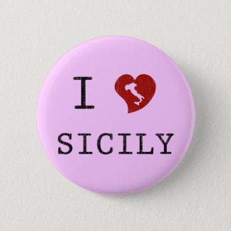 I Love Sicily Button