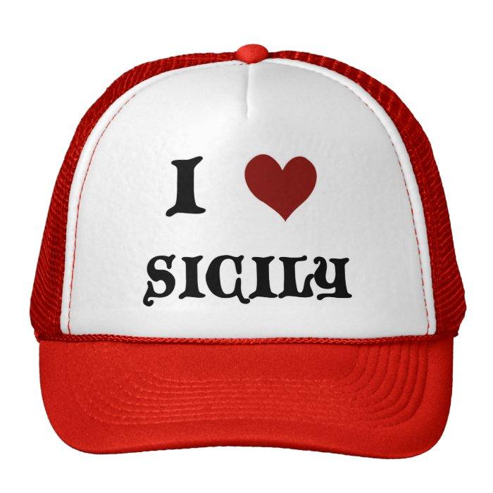 I Love Sicily Trucker Hat