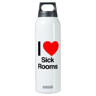 i love sick rooms 16 oz insulated SIGG thermos water bottle