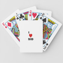 i love sid bicycle playing cards
