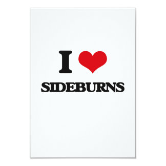 "I Love Sideburns 3.5"" X 5"" Invitation Card"