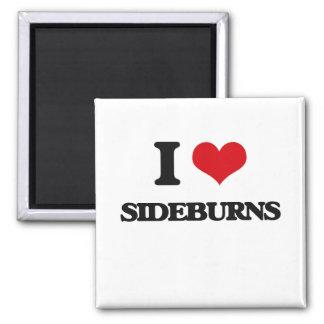 I Love Sideburns 2 Inch Square Magnet