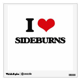 I Love Sideburns Room Sticker