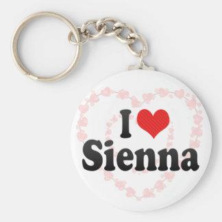 I Love Sienna Keychains