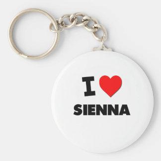 I Love Sienna Keychain