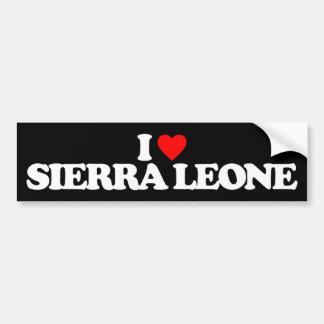 I LOVE SIERRA LEONE BUMPER STICKER