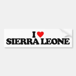 I LOVE SIERRA LEONE CAR BUMPER STICKER