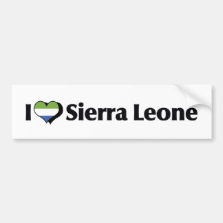 I Love Sierra Leone Flag Car Bumper Sticker