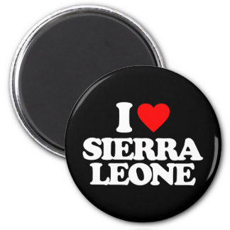 I LOVE SIERRA LEONE REFRIGERATOR MAGNETS