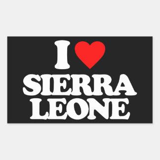 I LOVE SIERRA LEONE STICKERS