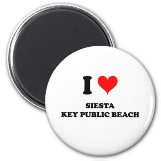 I Love Siesta Key Public Beach Florida Magnet