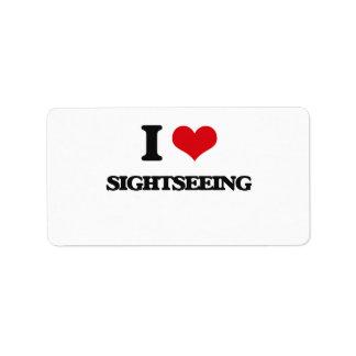 I Love Sightseeing Address Label