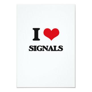 I Love Signals 3.5x5 Paper Invitation Card