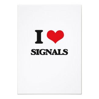 I Love Signals 5x7 Paper Invitation Card