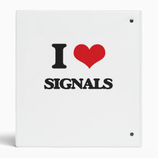 I Love Signals 3 Ring Binders