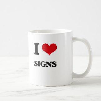 I Love Signs Coffee Mug