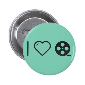 I Love Silent Movies 2 Inch Round Button