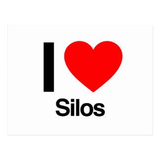 i love silos postcard